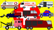 Emergency Vehicles for Kids | Ambulance Fire Truck Police Van Towing Rescue Vehicle