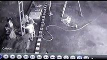Obreros por los aires por una explosión en una gasolinera