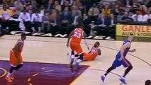 LeBron James BULLDOZES Teammate Kyrie Irving on Fastbreak