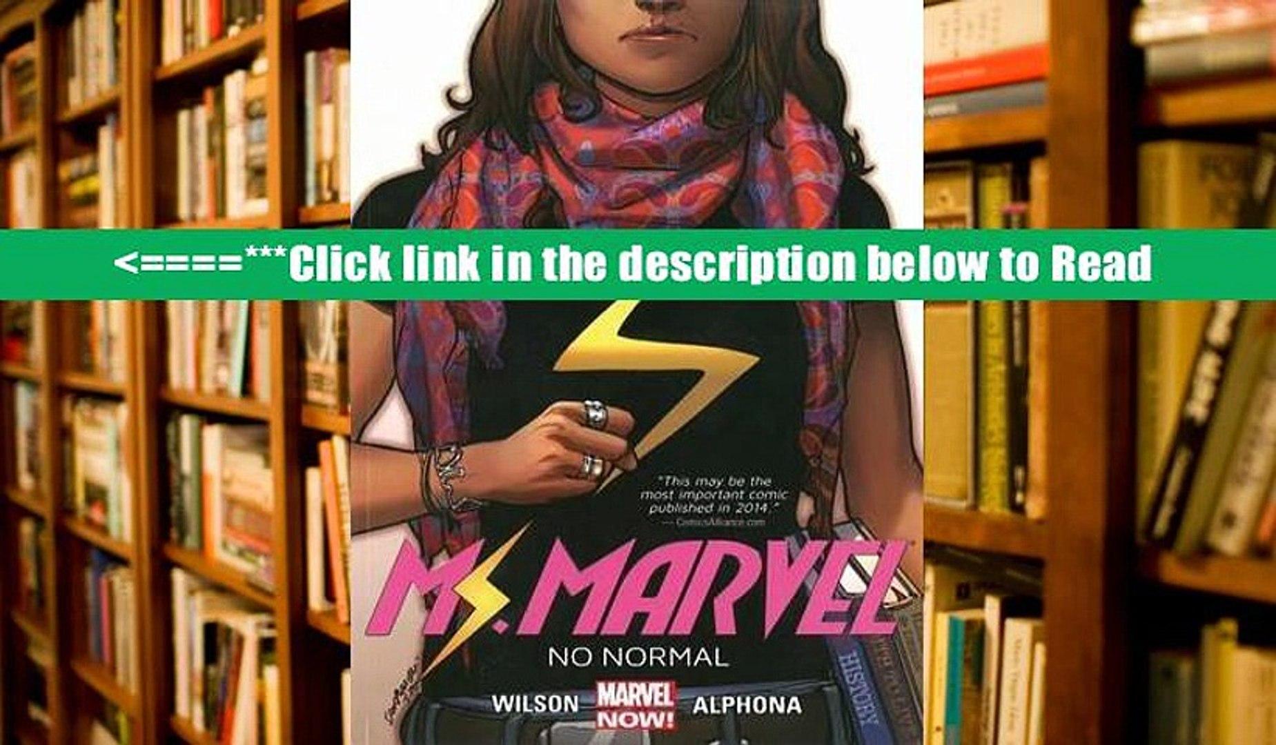 Download Ms. Marvel Volume 1: No Normal (Ms. Marvel Graphic Novels) PDFOnline Download