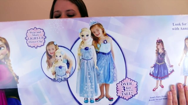 Frozen Elsa My Size Doll ATTACKS DisneyCarToys Disney Princess Toys Barbie and Cookie Mons