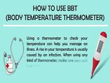 Steps for Using Basal Body Thermometer