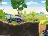 De dibujos animados sobre la cosechadora de dibujos animados sobre un portable de dibujos animados sobre un tractor maquinaria agrcola para los niños