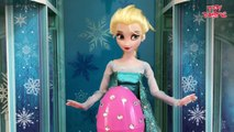 Frozen Elsa answers your Surprise Egg Questions on Jack Frost, Spiderman, Funny moments   more!--