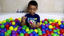 Fun Way to Learn Colors for Toddlers in Ball Pit Bath PJ Masks Mystery Toys