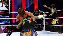 2016.05.02- Roman Reigns, Jey Uso and Jimmy Uso vs. Karl Anderson, Luke Gallows and AJ Styles- RAW
