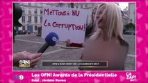 Cindy Lee, candidate du parti du plaisir, arrêtée seins nus devant l'Assemblée nationale