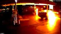 Une pompe à essence de Seattle percutée par un SUV Uber à pleine vitesse !