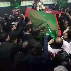 Syed Raza Abbas Zaidi Live Noha Khowani At Hussainia Birmingham UK 8th Moharram 2016
