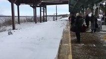 New York Train Hurls Snow Bomb at Commuters