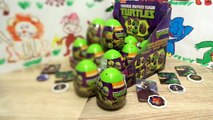 Kinder surprise eggs Nickelodeon Teenage Mutant Ninja Turtles Fireman sam Peppa pig