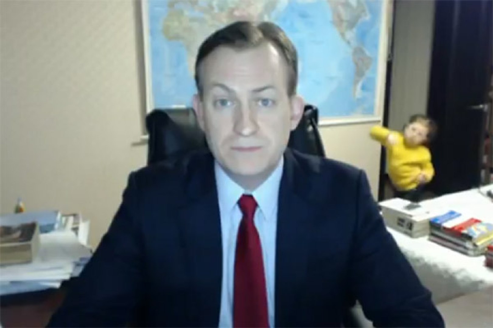 Funniest moment a BBC expert's live interview Gatecrashed by His Kids