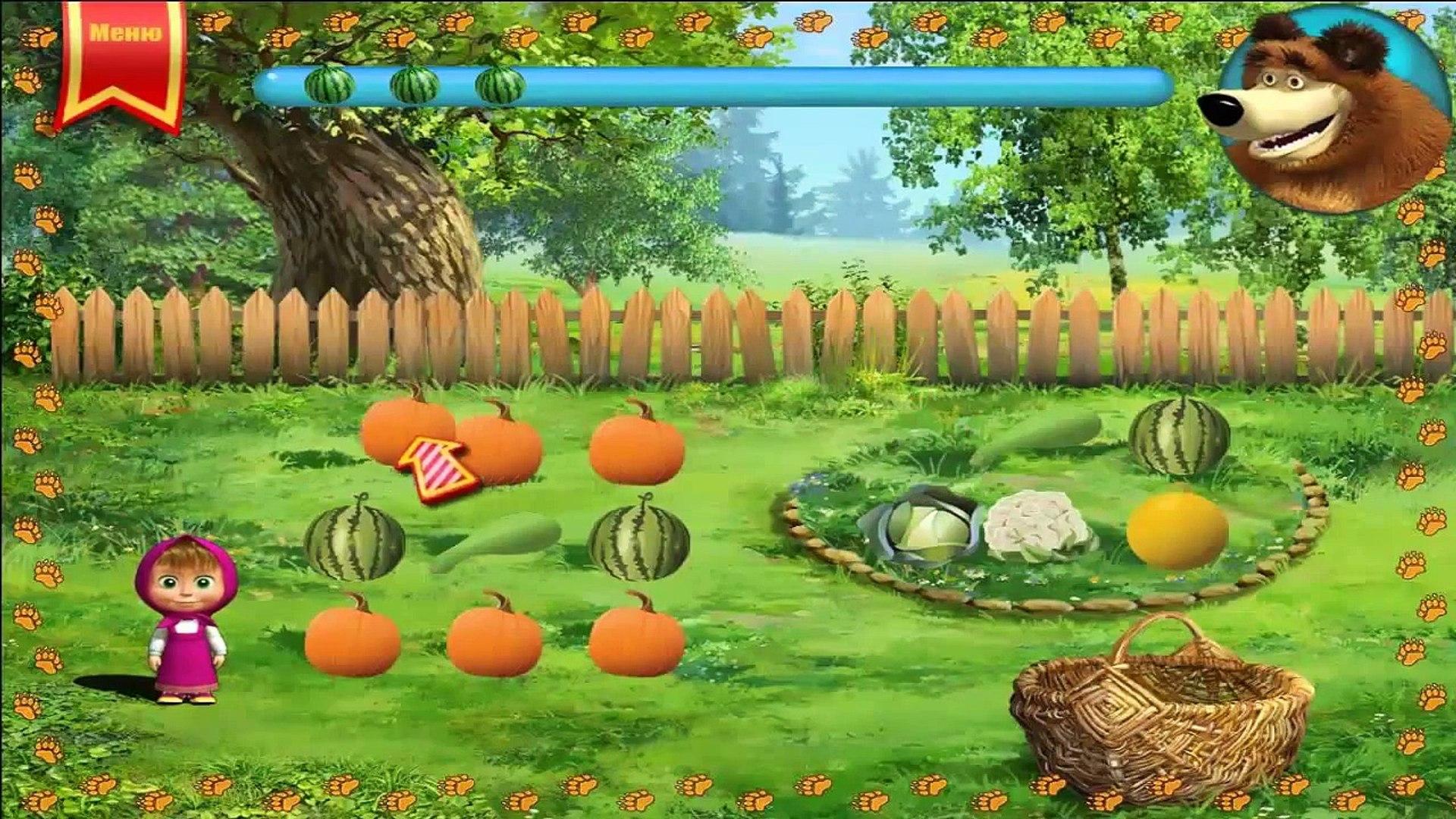 ДЛЯ ФУРШЕТА маша и медведь развивающая игра сажаем огород овощи новые серии детей часть 5