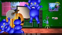 Mega Gummy Bear Celebrating Halloween Finger Family Nursery Rhyme for Childrens