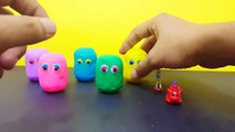 Learn Colors with Play Doh Surprises   Stacking Cups Nesting Kids Toys   Clay Sl