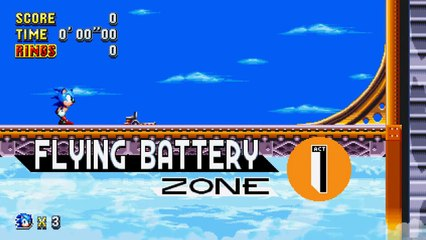 Sonic Mania : Flying Battery Zone Reveal