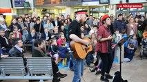 Brest. La chorale rock de la Carène secoue le hall de la gare