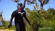 Spiderman Vs Venom and Captain America SuperHero Fights In Real Life IRL Super Hero Fights