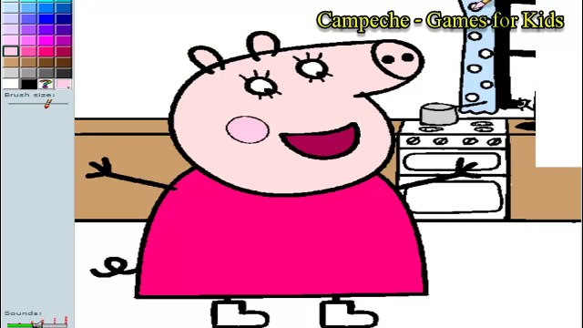 5 Peppa Pig Coloring Pages - Peppa Pig, Mummy Pig, Daddy Pig & George - Peppa Pig Coloring