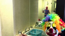 #SPIDERMAN and IRONMAN becomes Zombies w/ Evil Clown PRANK FUNNY Zombies Superheroes In Re