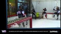 Les Marseillais South America : chutes en série lors d'une partie de hockey sur glace (Vidéo)