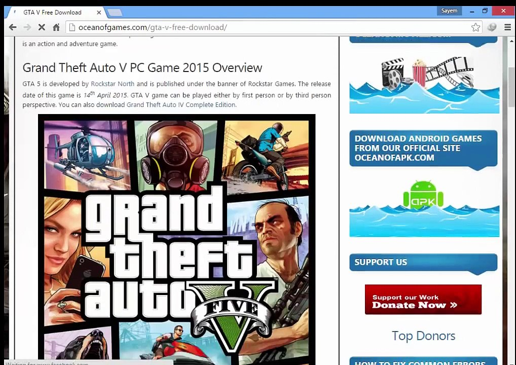 How To Download GTA V From Ocean Of Games (ALLGAMESFORPC)
