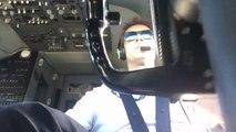 Atterrissage d'un avion par vent de travers