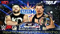 Chris Jericho Vs Kevin Owens || WWE United States Championship || Wrestlemania 33 || WWE 2k17