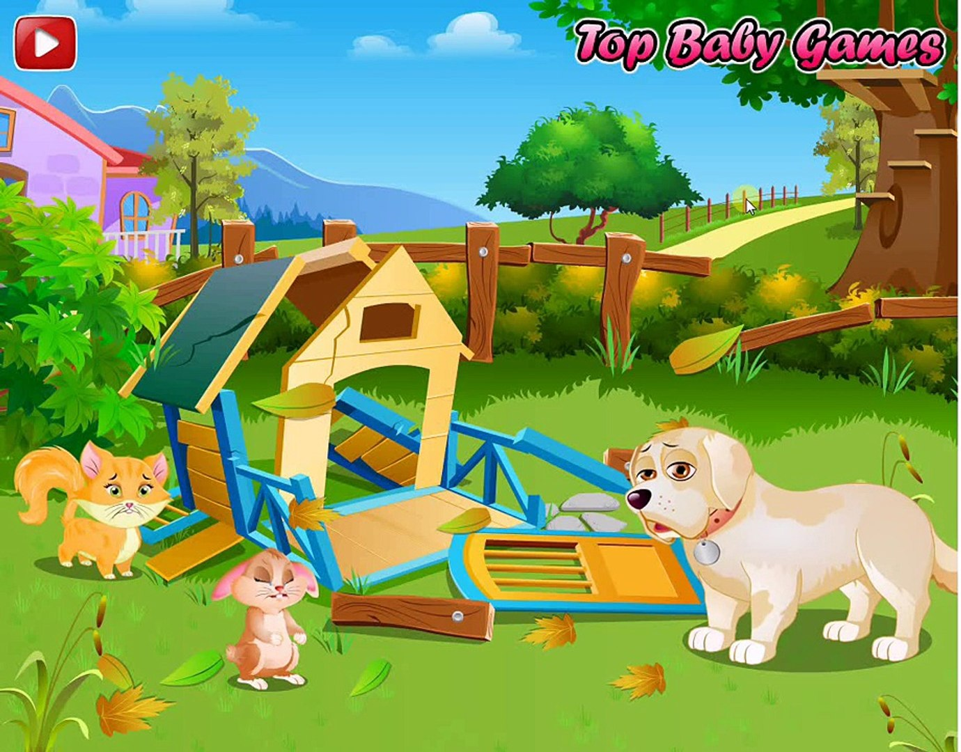 Pet House Story: Help Pets Rebuild Their House! Pet House Story | Kids Play Palace