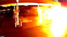Un chauffeur Uber provoque une grosse explosion après avoir foncé dans une pompe à essence