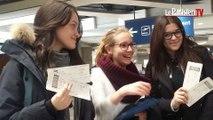 Trois lycéennes à la rencontre de Nicolas Batum aux Etats-Unis