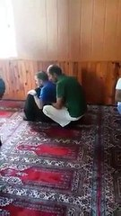 Man Perfom Prayer In Beautiful Method In Mosque