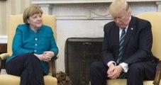 Merkel ve Trump'ın Görüşmesinde Dikkat Çeken Kare