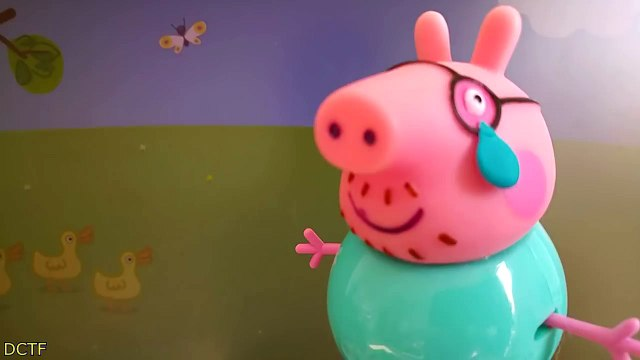 Peppa Pig Español Crying ! w/ Peppa Pig George Crying Wallet Play Daddy Pigs Police Gun