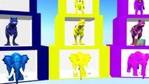 Train Colors Animals Learning Videos For Children | Wild Animals Dinosaurs Gorilla Videos