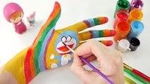Aprender los Colores para Niños de Pintura de la Pintura de la Cara de Dedos de la Familia Rimas de cuarto de niños