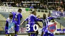 Foot National J25 Dunkerque-Béziers 3-0 17 mars 2017, le match