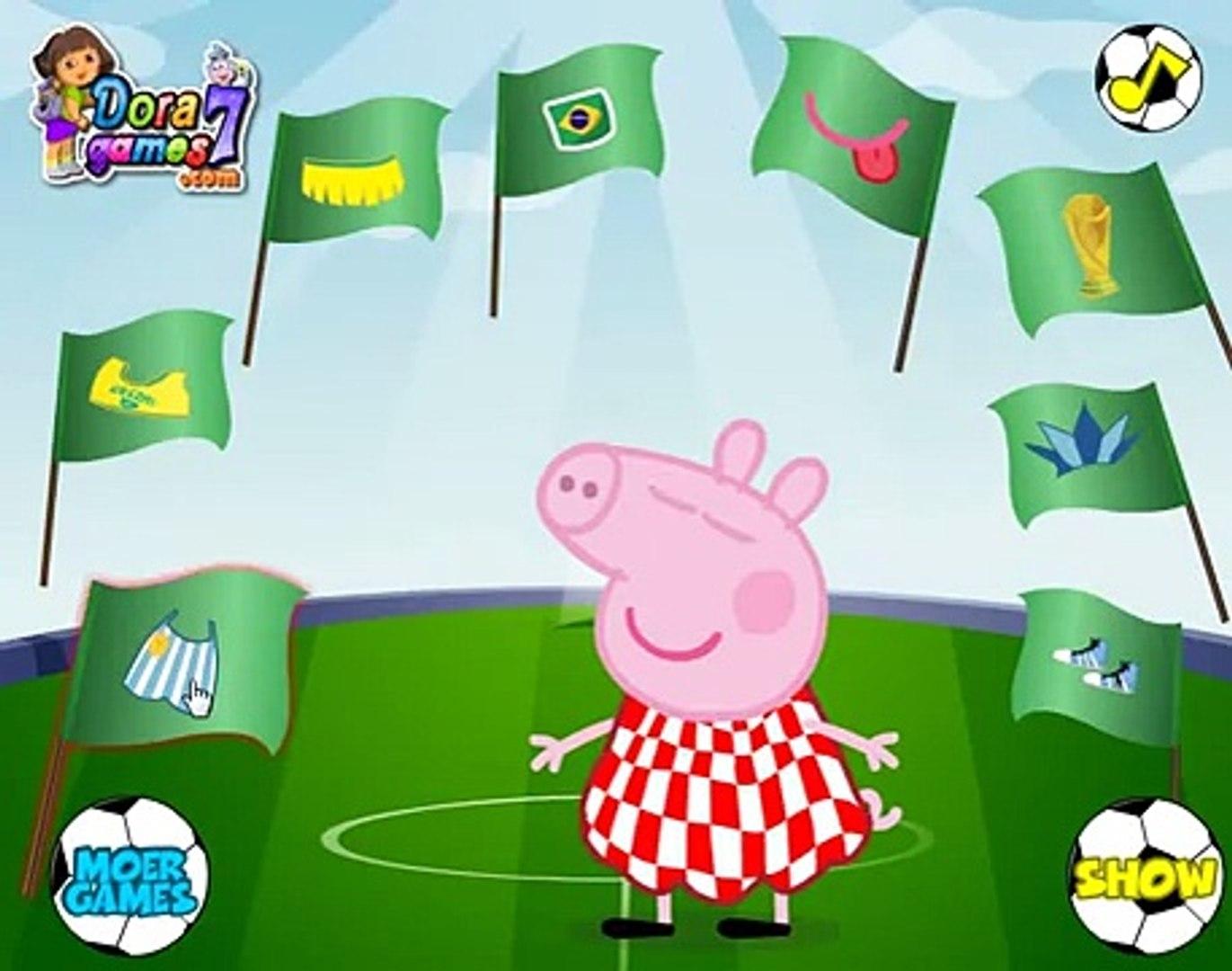 Свинка Пеппа звезда футбола. (Peppa Pig football star) Мультфильм для детей из игрушек на