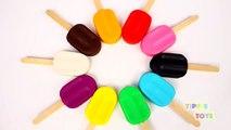 Aprender los Colores con Play Doh de Pintura Paleta de Helado de la Botella de Bebé Rimas de cuarto de niños de la Diversión y la Creatividad