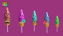 Mega Cake Pop crying popping color balloons finger family nursery rhymes | Cake Pop Ice cr