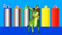 И животные цвета цвета слон для Дети Узнайте обучение детей младшего возраста видео зебра |