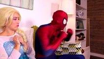Frozen Elsa Turns into a BAD BABY! w_ Spiderman Pink Spidergirl Joker Anna! Funny Superhero Video  -)-xWa6iO