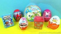 7 Surprise Eggs Yoohoo and Friends Shopkins Angry Birds Kindr Eggs ביצת קינדר ביצת הפתעה-1_GmA9