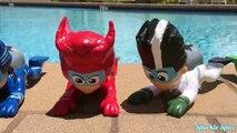 Learn Colors PJ MASKS Disney Jr Romeo Game, Luna Girl, Catboy, Bath Paint Toy Ba