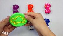 Узнайте цвета играть доч лед крем эскимо Пеппа свинья слон пресс-формы весело и Творческий для Дети