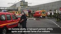 Orly: un homme abattu après avoir dérobé l'arme d'un militaire