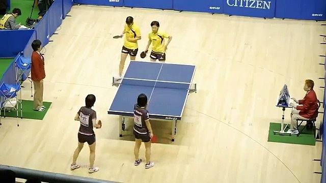 全日本卓球2014 (女D) 平野美宇/伊藤美誠 × 石塚/平田 3rd