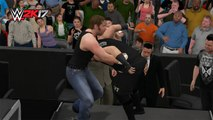 WWE 2K17 Dean Ambrose Vs Kevin Owens WWE IC Championship Last Man Standing Match