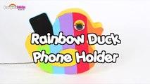 The Coolest DIY Rainbow Duck Phone Holder _ DIY Life Hacks by HooplaKidz How To-lAMfZhbjxnw