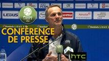 Conférence de presse FC Sochaux-Montbéliard - Nîmes Olympique (2-1) : Albert CARTIER (FCSM) - Bernard BLAQUART (NIMES) - 2016/2017